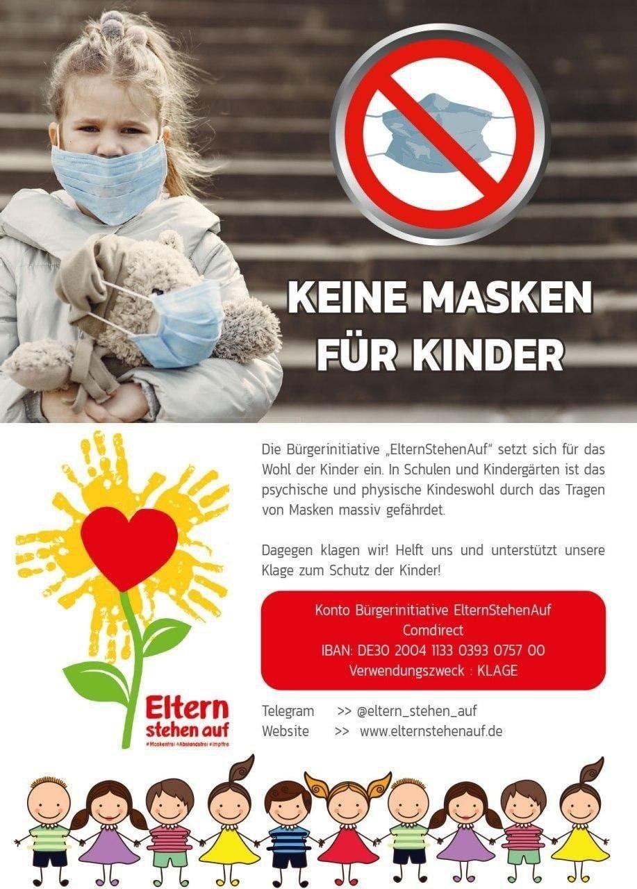 Keine Masken für Kinder